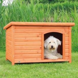 Natura Niche à toit plat brun pour chiens 104 x 72 x 68 cm - Dogteur
