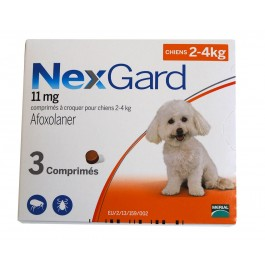 Nexgard Chiens 2 à 4 kg 3 cps - Dogteur