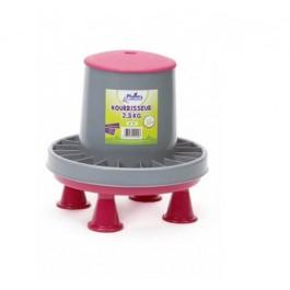 Plume & Compagnie nourrisseur plastique sur pieds 2,5 kg - Dogteur