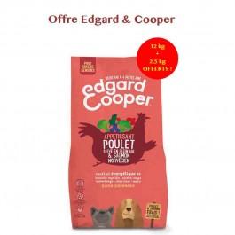 Edgard & Cooper Croquettes Poulet frais & Saumon norvégien sans céréale Chien Senior 12 kg - Dogteur