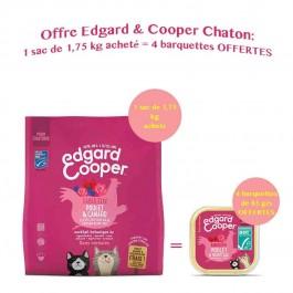 Edgard & Cooper Fabuleux Poulet & Canard croquettes sans céréales pour chaton 1,75 kg - Dogteur