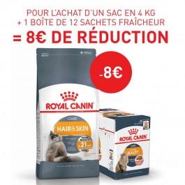 Royal Canin Féline Care Nutrition Hair & Skin Care 4 kg - Dogteur