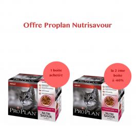 Purina Proplan Cat Nutrisavour Adult Canard 10 pochons 85 grs - Dogteur