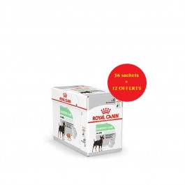 Offre Royal Canin Canine Care Nutrition Digestive Care mousse 36 sachets + 12 offerts