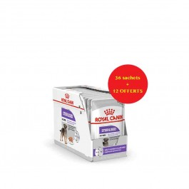 Offre Royal Canin Canine Care Nutrition Sterilised mousse 36 sachets + 12 offerts