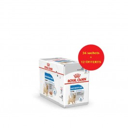 Offre Royal Canin Canine Care Nutrition Light Weight Care mousse 36 sachets + 12 offerts