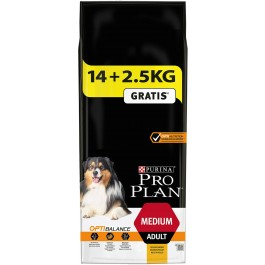 Purina ProPlan Dog Medium Adult OPTIBALANCE 14 kg + 2,5 kg offerts - Dogteur