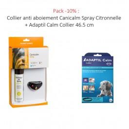 Collier anti aboiement Canicalm Spray Citronnelle noir - Dogteur