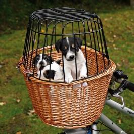 Trixie Panier pour vélo avec grille de protection 44 × 48 × 33 cm - Dogteur
