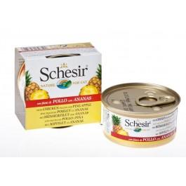Schesir Filets de Poulet Ananas pour chat 14 x 75 g - Dogteur