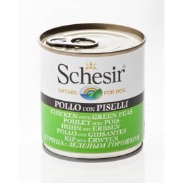 Schesir Poulet avec Pois en gelée pour chien 16 x 285 g - Dogteur