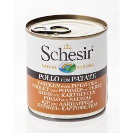 Schesir Poulet avec Pommes de terre en gelée pour chien 16 x 285 g - Dogteur