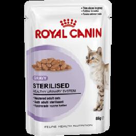 Royal Canin Sterilised en sauce Chat âgé de 1 à 7 ans Sachet 12 x 85 grs - Dogteur