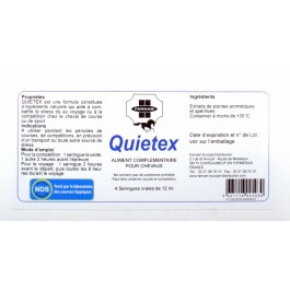 Quietex 4 Seringues Cheval stressé 12 ml - Dogteur