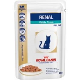 Royal Canin Veterinary Diet Cat Renal Thon Sachet 12 x 85 grs - Dogteur