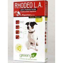 Rhodeo L.A chien moyen de 10 à 25 kg 4 pipettes - Dogteur