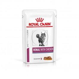 Royal Canin Veterinary Diet Cat Renal Poulet Sachet 12 x 85 grs - Dogteur