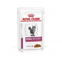Royal Canin Veterinary Diet Cat Renal Boeuf Sachet 12 x 85 grs - Dogteur