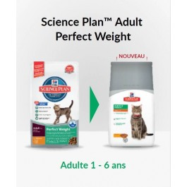 Hill's Science Plan Feline Adult Perfect Weight Poulet 3 kg - Dogteur
