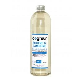 Offre Dogteur: 1 Shampooing PRO Dogteur Soufre et Camphre 500 ml acheté = 1 gant de toilettage offert - Dogteur