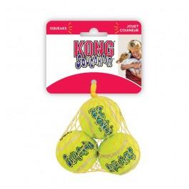 KONG Air Squeaker Tennis Ball Small (par 3)