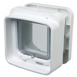 Sureflap Chatière à Puce électronique DualScan blanc - Dogteur