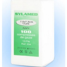 Compresses de gaze hydrophile non stériles 7.5 x 7.5 cm par 100 - Dogteur