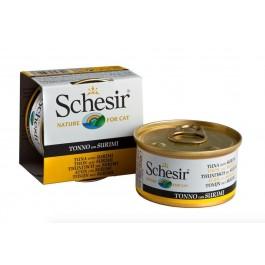 Schesir Thon avec Surimi en gelée pour chat 14 x 85 g - Dogteur