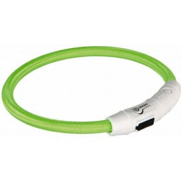 Trixie Collier Lumineux Safer Life USB Flash vert pour chien M-L - Dogteur