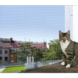 Trixie Filet de protection transparent pour fenêtre porte et balcon 3 x 2 m - Dogteur