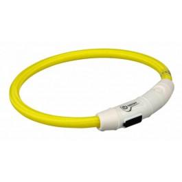 Trixie Collier Lumineux Safer Life USB Flash jaune pour chien M-L - Dogteur