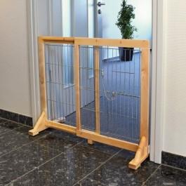 Trixie barrière pour chiens en bouleau 61 - 103 x 75 x 40 cm - Dogteur