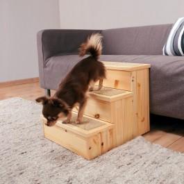 Trixie Escalier en pin 40 × 38 × 45 cm - Dogteur