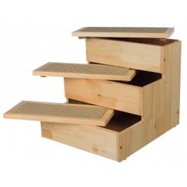 Trixie Escalier en pin 40 × 38 × 45 cm - La Compagnie des Animaux