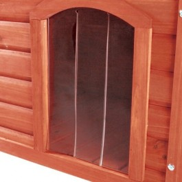 Trixie porte plastique 34 x 52 cm pour niche Natura à toit plat 116 x 82 x 79 cm - Dogteur