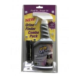 Pack combo: 1 Urine Off Chat Spray 500 ml + 1 Mini Torche détecteur d'urine - Dogteur