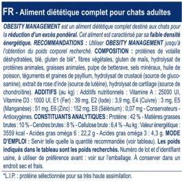 Royal Canin Veterinary Diet Cat Obesity DP42 400 grs - Dogteur