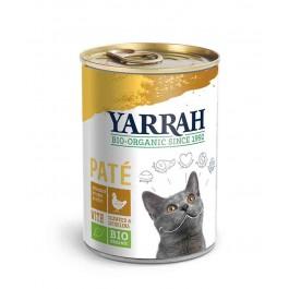 Yarrah Bio Pâté de poulet à la spiruline et aux algues marines pour chat 12 x 400 grs - Dogteur