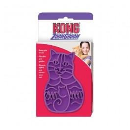Kong Brosse Cat Zoom Groom violette pour chat - La Compagnie des Animaux