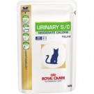 Royal Canin Veterinary Diet Cat Urinary Moderate Calorie Poulet 12 x 100 grs