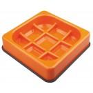 M-pets Waffle gamelle anti-glouton à carreaux orange
