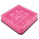 M-pets Waffle gamelle anti-glouton à carreaux rose