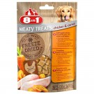 8in1 Freeze Dried Meaty Treats au poulet et aux carottes pour chien 50 g