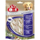 8in1 Twisted Sticks Beef XS pour chien x35- La Compagnie des Animaux