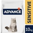 Advance Adult Sensitive Chat au saumon 10 kg- La Compagnie des Animaux