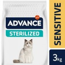 Advance Sterilized Sensitive Chat au saumon 3 kg- La Compagnie des Animaux