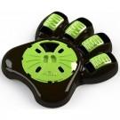 Aïkiou Paw Bowl bol interactif pour chien marron/vert - Dogteur