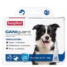 Beaphar Caniguard chien moyen 7.5 - 15 kg 3 pipettes- La Compagnie des Animaux