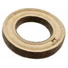 Bubimex jouet anneau cuir naturel et laine 18 cm