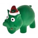 Bubimex Xmas Cochon Noël en latex 14 cm - La Compagnie des Animaux